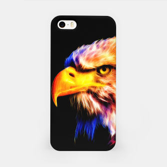 Miniatur bald eagle 03 neon lines meteor iPhone Case, Live Heroes