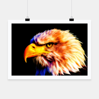 Thumbnail image of bald eagle 03 neon lines meteor Poster, Live Heroes