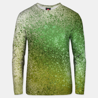 Thumbnail image of Earthy Green Paint Splatter Unisex sweater, Live Heroes