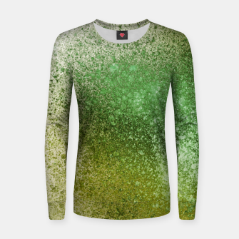 Thumbnail image of Earthy Green Paint Splatter Women sweater, Live Heroes