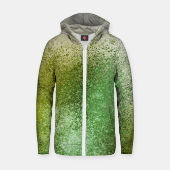 Thumbnail image of Earthy Green Paint Splatter Zip up hoodie, Live Heroes