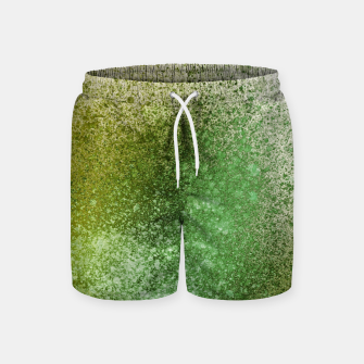 Thumbnail image of Earthy Green Paint Splatter Swim Shorts, Live Heroes
