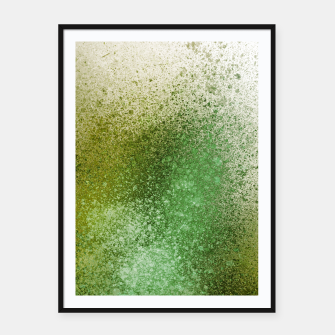 Thumbnail image of Earthy Green Paint Splatter Framed poster, Live Heroes