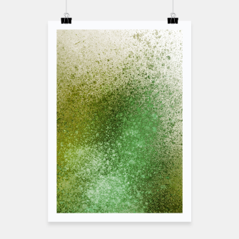 Thumbnail image of Earthy Green Paint Splatter Poster, Live Heroes