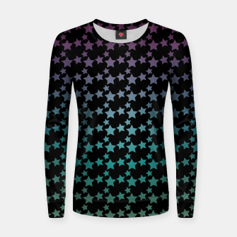 Thumbnail image of Stars gradient pattern Women sweater, Live Heroes