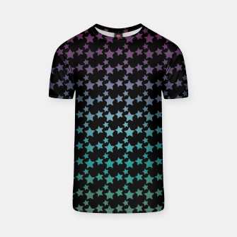 Thumbnail image of Stars gradient pattern T-shirt, Live Heroes