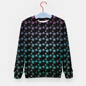 Thumbnail image of Stars gradient pattern Kid's sweater, Live Heroes