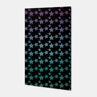 Thumbnail image of Stars gradient pattern Canvas, Live Heroes