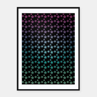 Thumbnail image of Stars gradient pattern Framed poster, Live Heroes