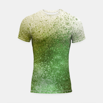 Thumbnail image of Earthy Green Paint Splatter Shortsleeve rashguard, Live Heroes