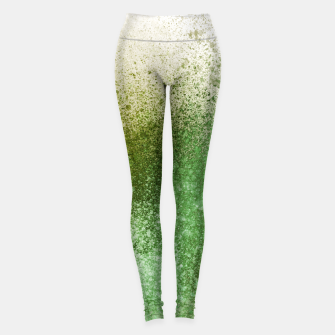 Thumbnail image of Earthy Green Paint Splatter Leggings, Live Heroes