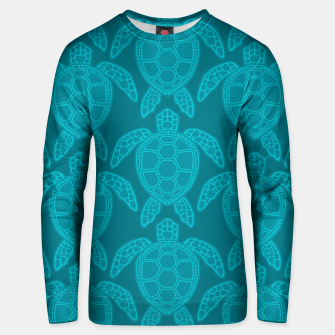 Miniatur Sea Turtle Pattern Teal Unisex sweater, Live Heroes