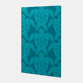Miniatur Sea Turtle Pattern Teal Canvas, Live Heroes