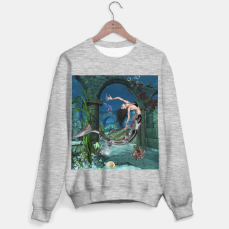 Thumbnail image of Wonderful mermaid in the deep ocean Sweater regular, Live Heroes