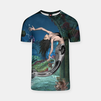 Thumbnail image of Wonderful mermaid in the deep ocean T-shirt, Live Heroes