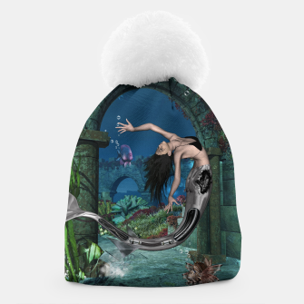 Thumbnail image of Wonderful mermaid in the deep ocean Beanie, Live Heroes