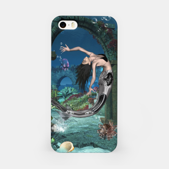 Thumbnail image of Wonderful mermaid in the deep ocean iPhone Case, Live Heroes