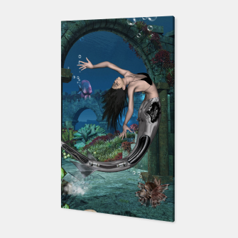 Thumbnail image of Wonderful mermaid in the deep ocean Canvas, Live Heroes