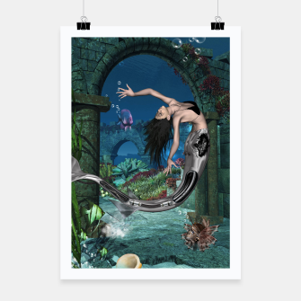 Thumbnail image of Wonderful mermaid in the deep ocean Poster, Live Heroes