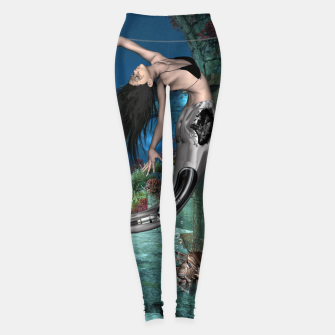 Thumbnail image of Wonderful mermaid in the deep ocean Leggings, Live Heroes