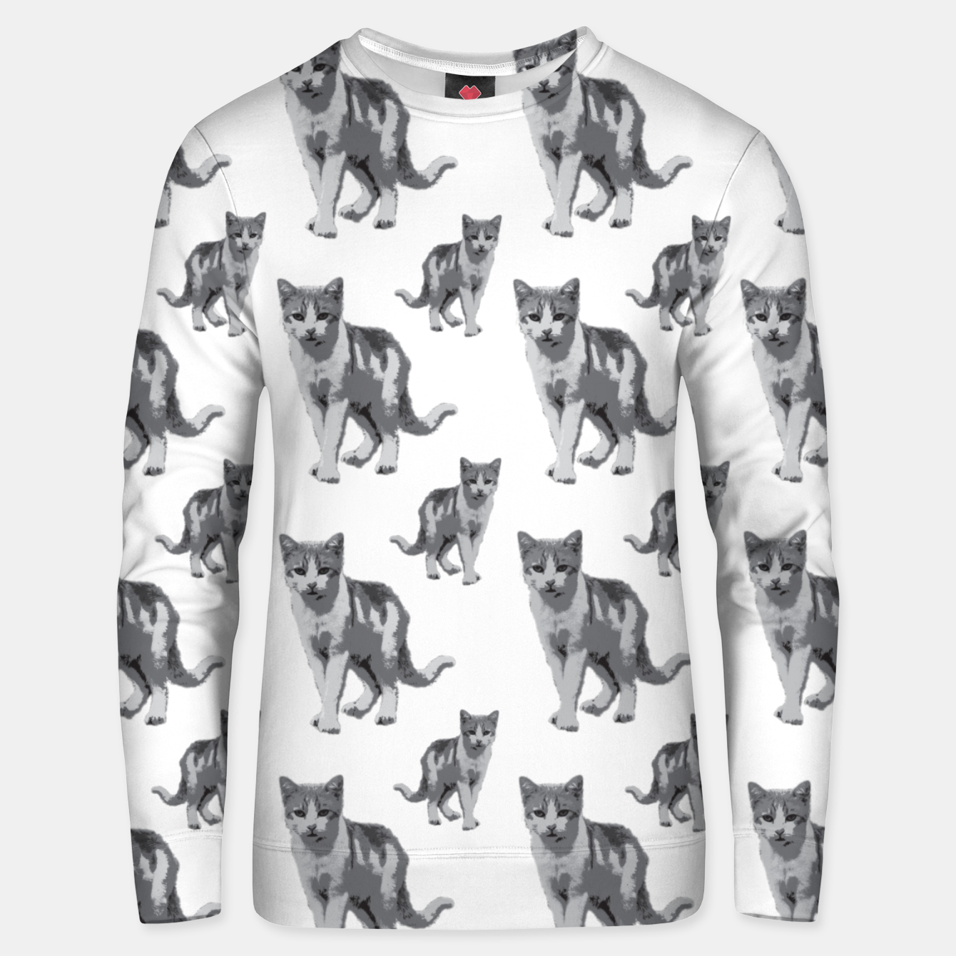 Image of Grey room tiger Unisex sweater - Live Heroes