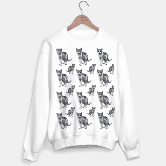 Grey room tiger Sweater regular thumbnail image