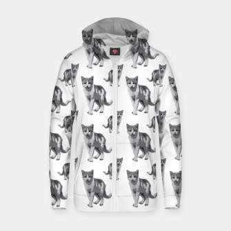 Grey room tiger Zip up hoodie thumbnail image