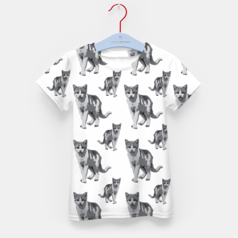 Grey room tiger Kid's t-shirt thumbnail image