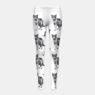 Grey room tiger Girl's leggings thumbnail image
