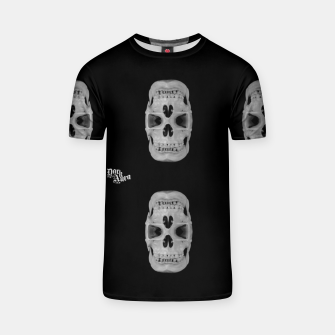 Thumbnail image of Double gothic skull, day of the dead T-shirt, Live Heroes