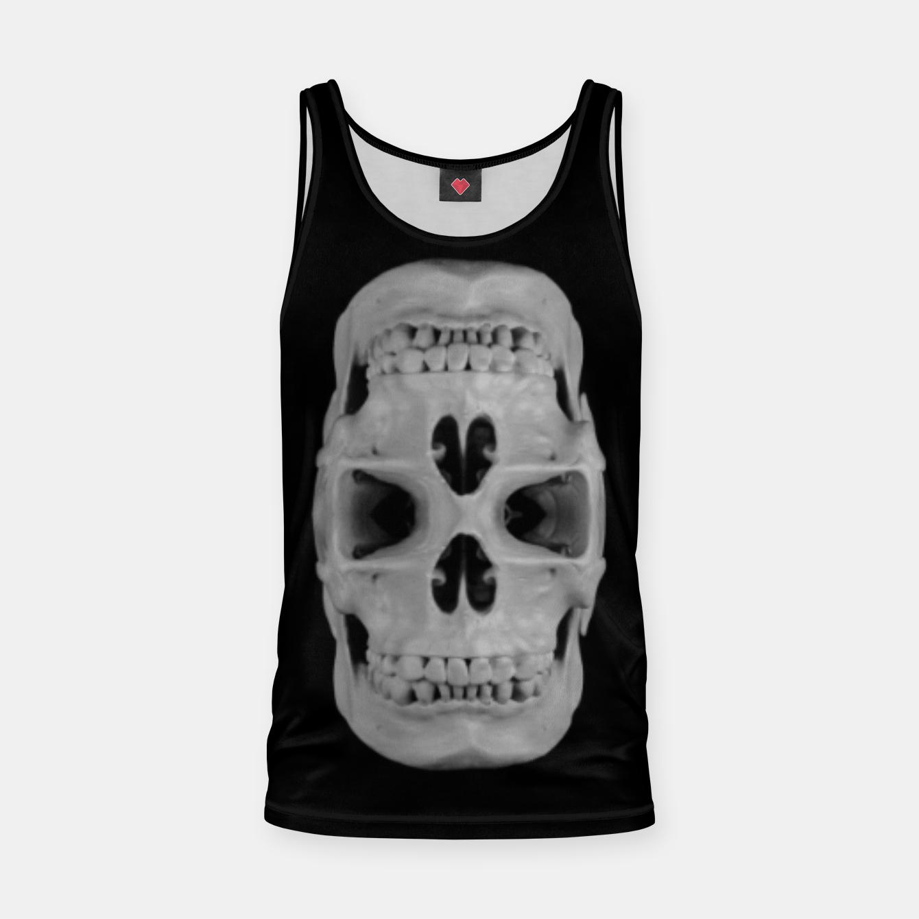 Foto Double gothic skull, day of the dead Tank Top - Live Heroes