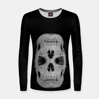 Thumbnail image of Double gothic skull, day of the dead Women sweater, Live Heroes