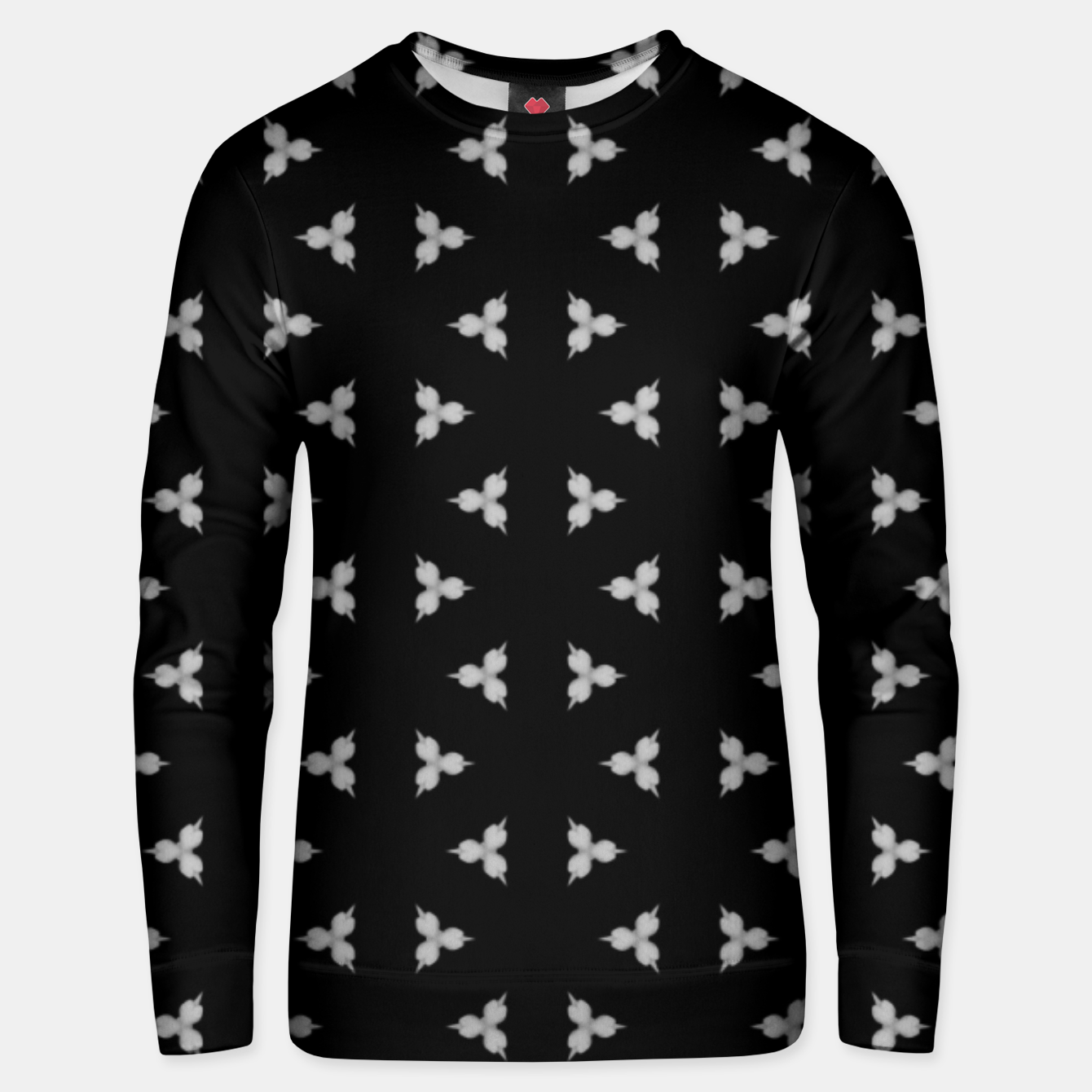 Image of Vintage and gothic discrete spiked pattern Unisex sweater - Live Heroes