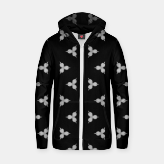 Vintage and gothic discrete spiked pattern Zip up hoodie thumbnail image