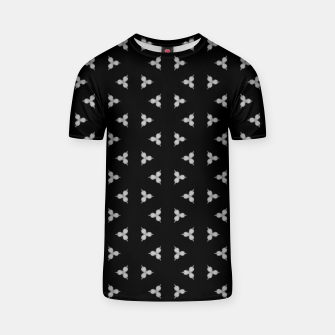 Vintage and gothic discrete spiked pattern T-shirt thumbnail image