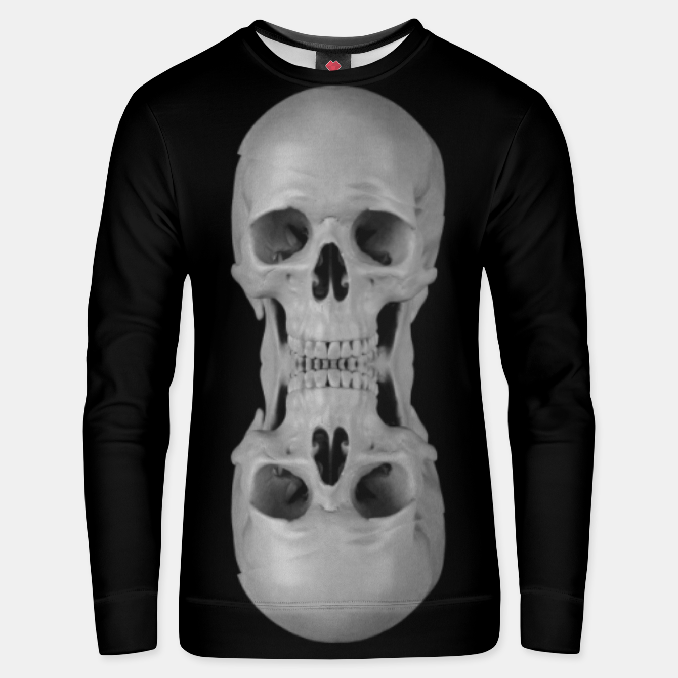 Image of skull pattern, metal & goth stripes Unisex sweater - Live Heroes