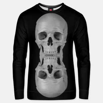 Thumbnail image of skull pattern, metal & goth stripes Unisex sweater, Live Heroes