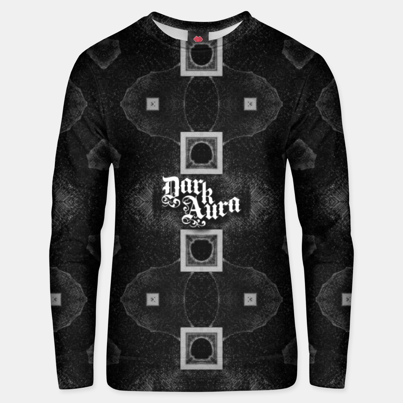 Image of Mad geometry on metal gothic pulp comics magazine Unisex sweater - Live Heroes
