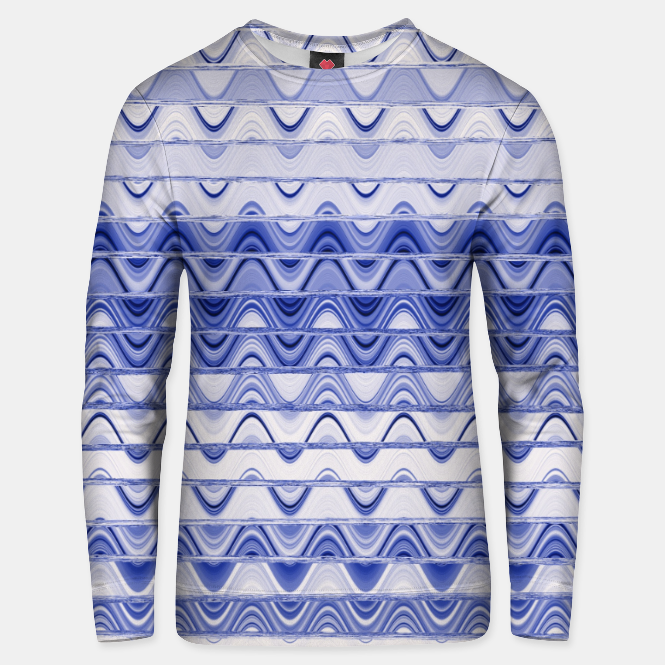 Image of Aztec pattern in blue Unisex sweater - Live Heroes