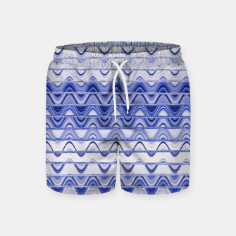 Thumbnail image of Aztec pattern in blue Swim Shorts, Live Heroes
