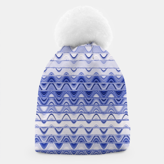 Aztec pattern in blue Beanie thumbnail image
