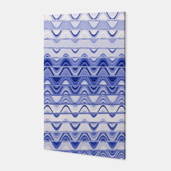Aztec pattern in blue Canvas thumbnail image