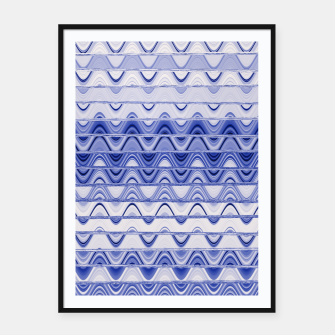 Aztec pattern in blue Framed poster thumbnail image
