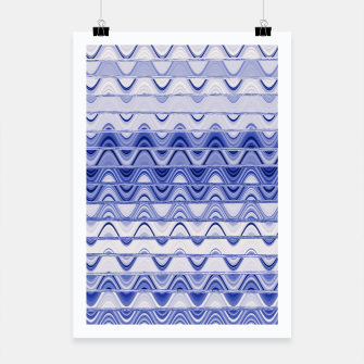 Aztec pattern in blue Poster thumbnail image