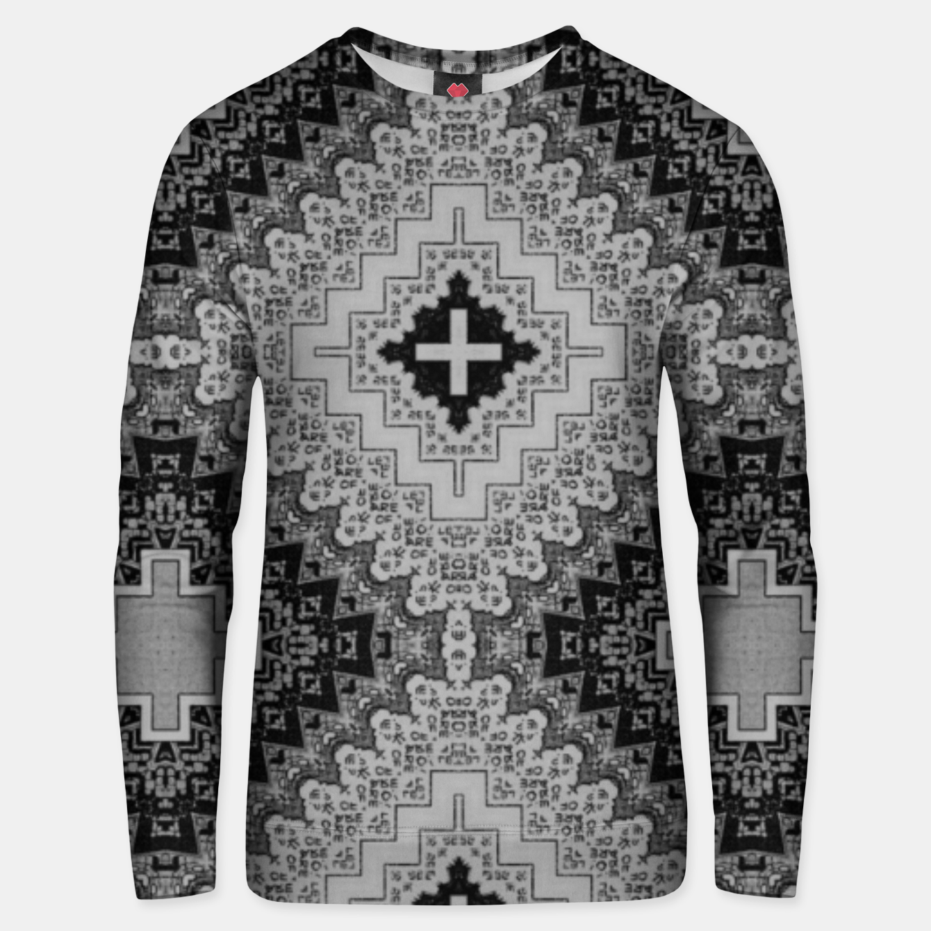 Image of vintage comics - words, geometry, neo gothic, urban, pulp Unisex sweater - Live Heroes