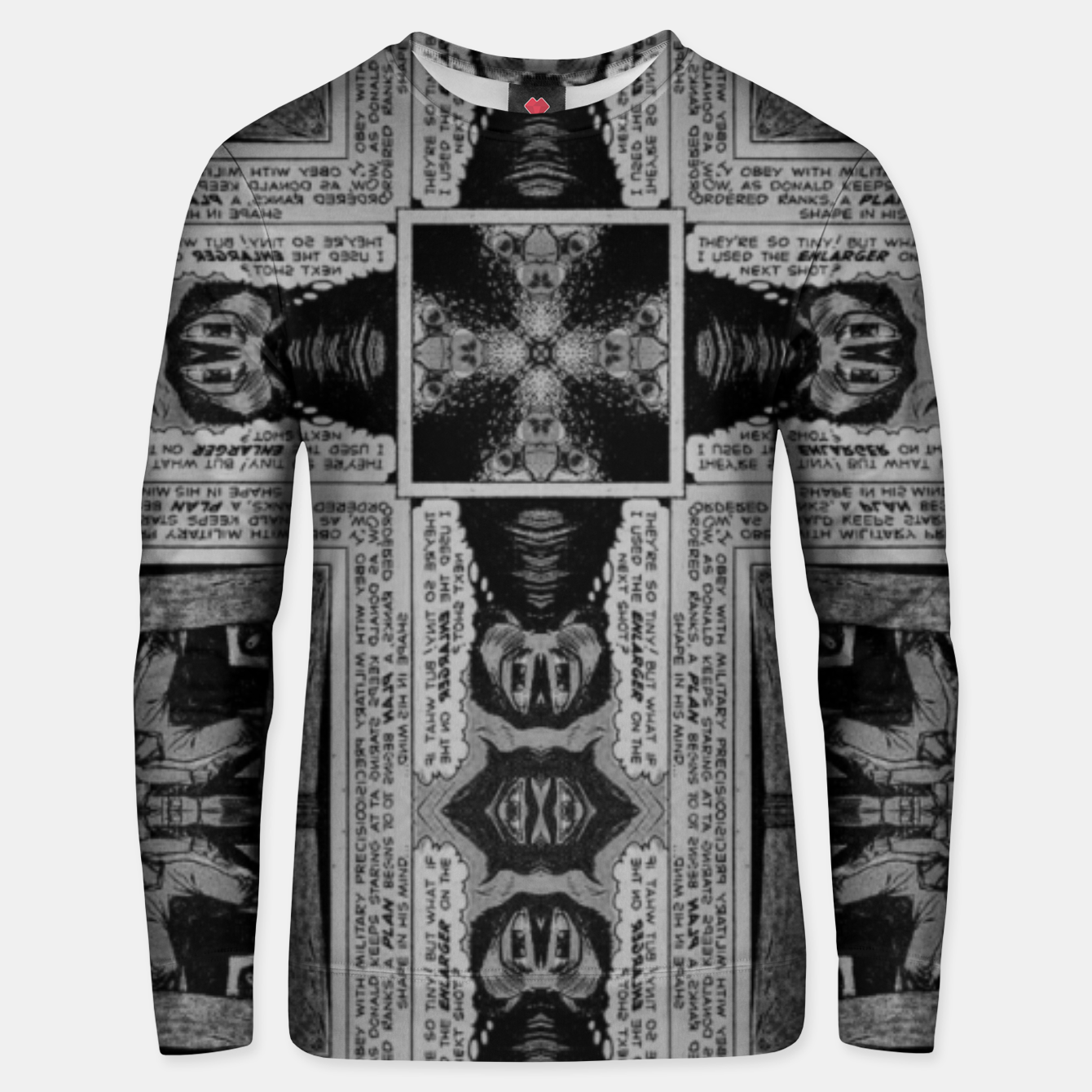 Image of vintage comics - balloons, neo-gothic, urban, pulp Unisex sweater - Live Heroes