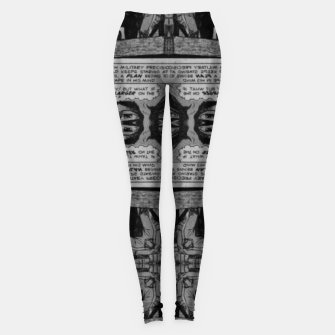 Thumbnail image of vintage comics - balloons, neo-gothic, urban, pulp Leggings, Live Heroes