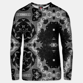 Thumbnail image of vintage comics - graphic neo gothic and industrial metal noise Unisex sweater, Live Heroes