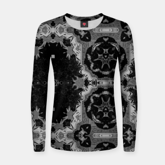vintage comics - graphic neo gothic and industrial metal noise Women sweater thumbnail image