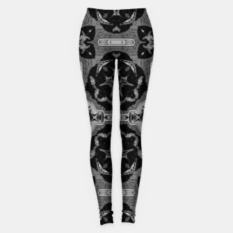 vintage comics - graphic neo gothic and industrial metal noise Leggings thumbnail image